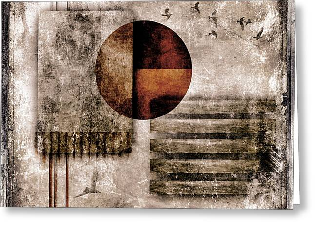 Grungy Greeting Cards - Autumnal Equinox Greeting Card by Carol Leigh