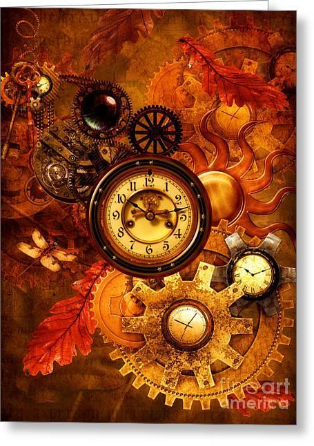Autumnal Equinox Greeting Card by Putterhug  Studio