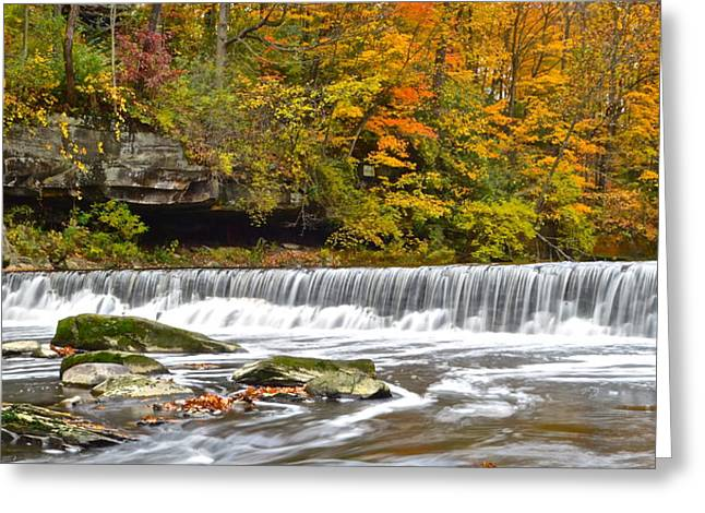 Yahweh Greeting Cards - Autumnal Panorama Greeting Card by Frozen in Time Fine Art Photography