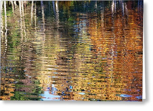 Autumn Photographs Digital Art Greeting Cards - Autumnal Reflections I Greeting Card by Natalie Kinnear