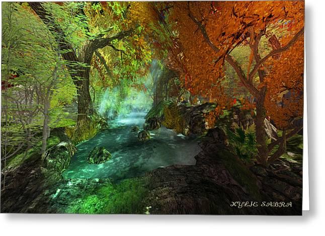 Kylie Sabra Greeting Cards - Autumnal Solitude  Greeting Card by Kylie Sabra
