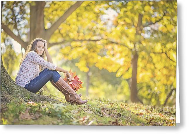 Enjoying Greeting Cards - Autumnalia Greeting Card by Evelina Kremsdorf
