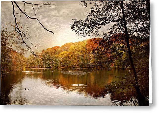 Jessica Photographs Greeting Cards - Autumns Adieu Greeting Card by Jessica Jenney