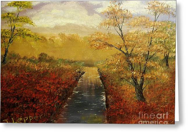 Oak Creek Greeting Cards - Autumns Approach Greeting Card by Jack Lepper