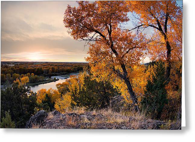 Idaho Greeting Cards - Autumns Best Greeting Card by Leland D Howard