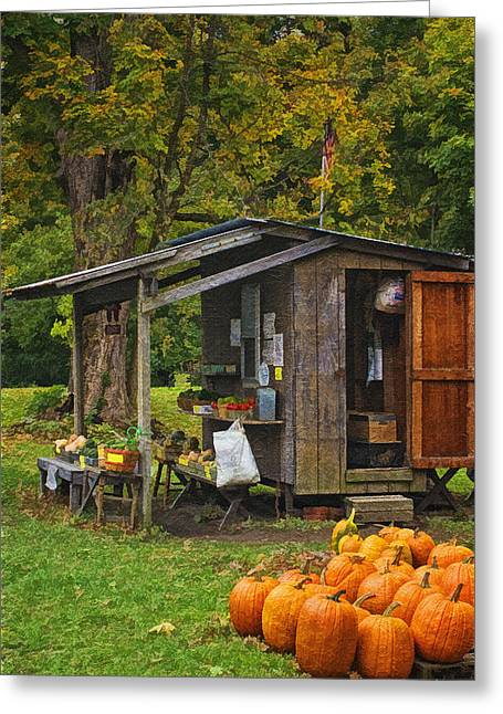 Farm Stand Greeting Cards - Autumns Bounty Greeting Card by Priscilla Burgers