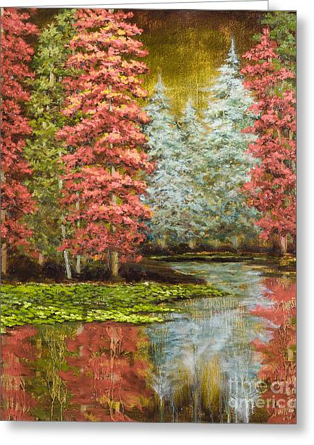 Autumn's Brilliance Greeting Card by Vic  Mastis