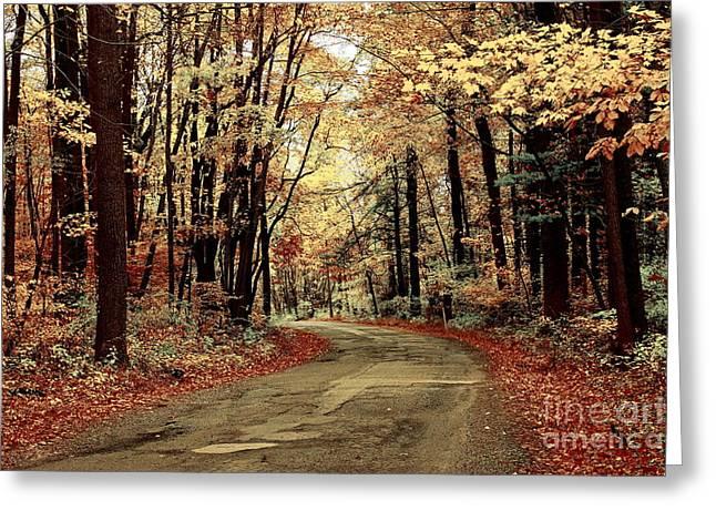 Marcia Lee Jones Greeting Cards - Autumns Dressing Greeting Card by Marcia Lee Jones