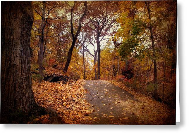 Autumn Landscape Digital Greeting Cards - Autumns Final Act Greeting Card by Jessica Jenney
