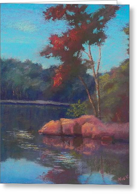 Fall Colors Pastels Greeting Cards - Autumns First Blush Greeting Card by Nicki Shishakly