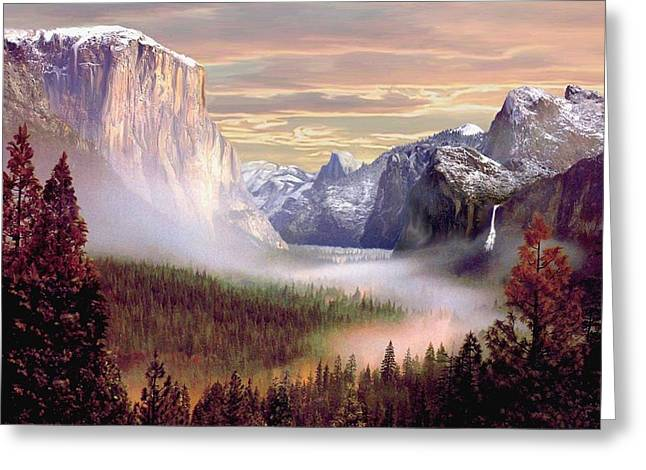Bridalveil Falls Greeting Cards - Autumns First Snowfall Greeting Card by Ronald Chambers