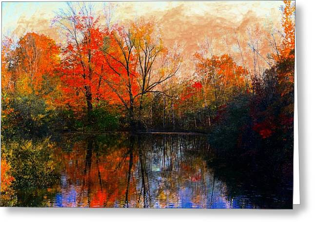 Tasteful Pyrography Greeting Cards - Autumns Glow Greeting Card by Michael Dion Taylor