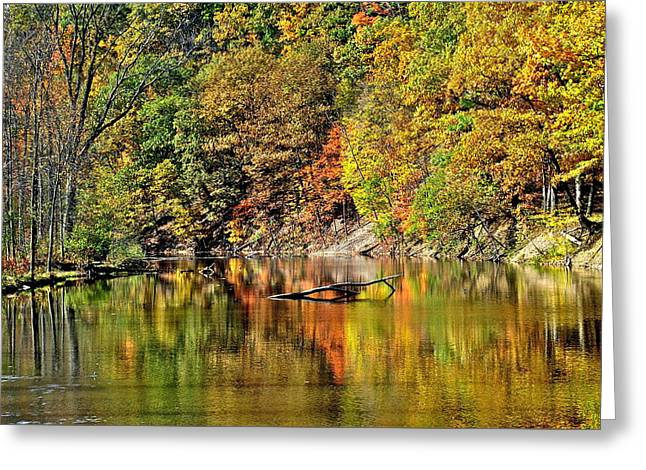 Willow Lake Greeting Cards - Autumns Glow Greeting Card by Frozen in Time Fine Art Photography