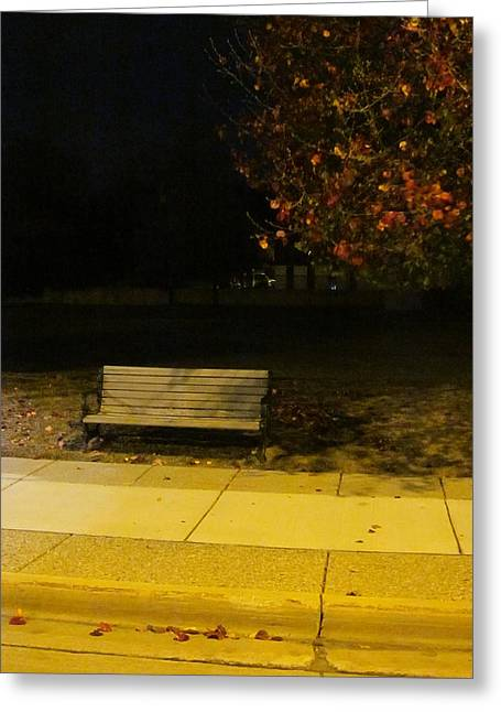 Photographs With Red. Greeting Cards - Autumns Nocturnal Solace Greeting Card by Guy Ricketts