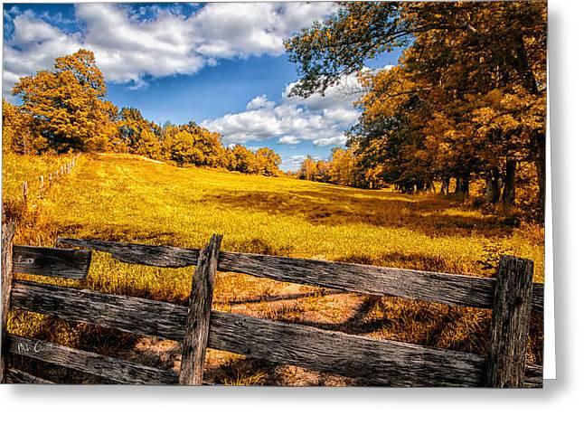 Autumns Pasture Greeting Card by Bob Orsillo