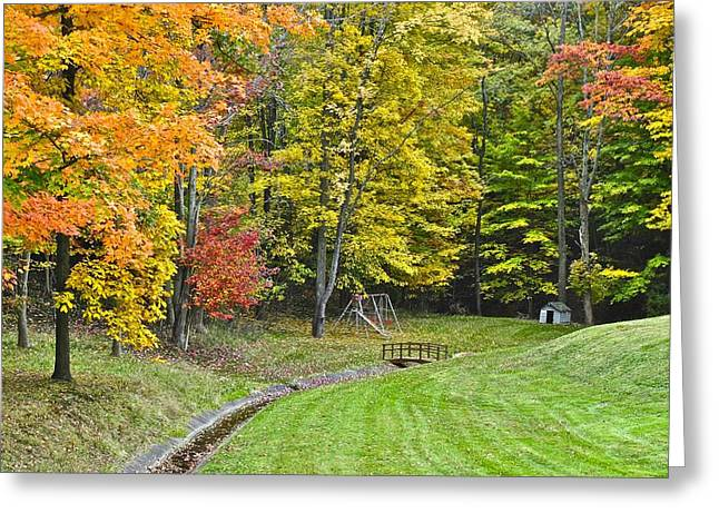 Doghouse Greeting Cards - Autumns Playground Greeting Card by Frozen in Time Fine Art Photography
