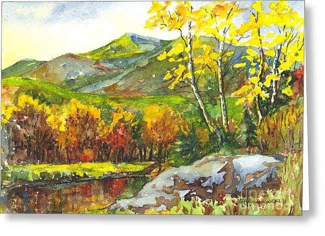 Autumn's Showpiece Greeting Card by Carol Wisniewski