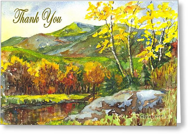 Sunset Greeting Cards Drawings Greeting Cards - Autumns Showpiece Thank You Greeting Card by Carol Wisniewski