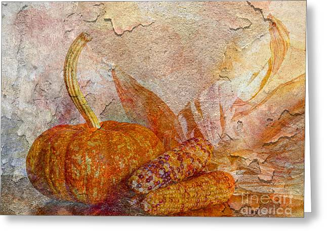 Fall Decoration Greeting Cards - Autumns Warmth Greeting Card by Heidi Smith