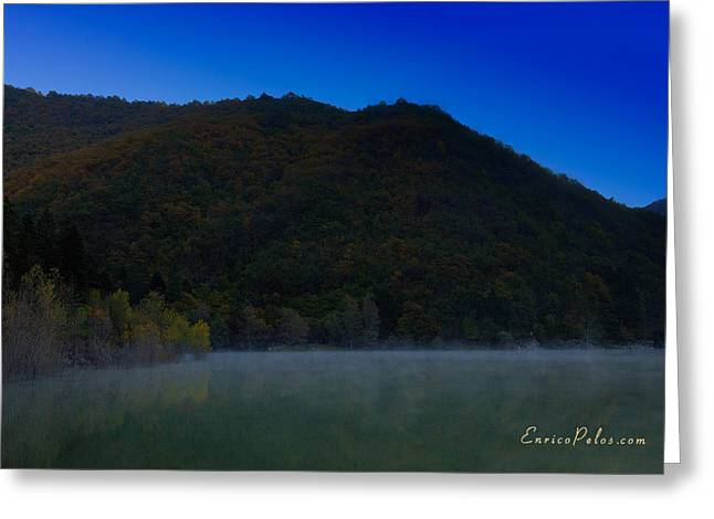 Nebbia Greeting Cards - AUTUNNO Alba sul lago - AUTUMN Lake dawn 9576 Greeting Card by Enrico Pelos