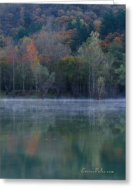 Nebbia Greeting Cards - AUTUNNO Alba sul lago - AUTUMN Lake dawn 9615 Greeting Card by Enrico Pelos