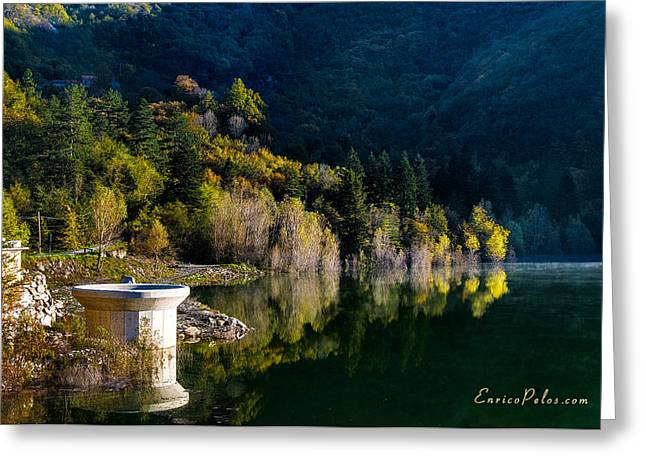Nebbia Greeting Cards - AUTUNNO Alba sul lago - AUTUMN Lake dawn 9652 Greeting Card by Enrico Pelos