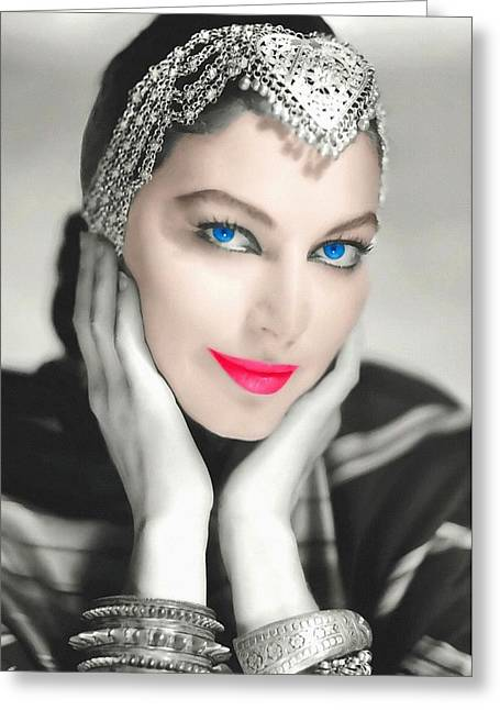 First Plane Greeting Cards - Ava Gardner Greeting Card by Art Cinema Gallery