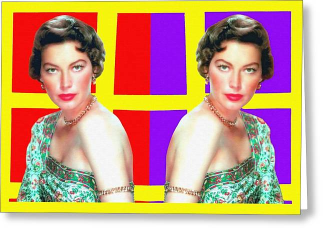 First Plane Greeting Cards - Ava Gardner in Bhowani Junction Greeting Card by Art Cinema Gallery