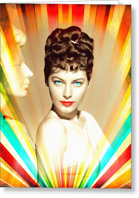 Statue Portrait Greeting Cards - Ava Gardner in One Touch of Venus Greeting Card by Art Cinema Gallery