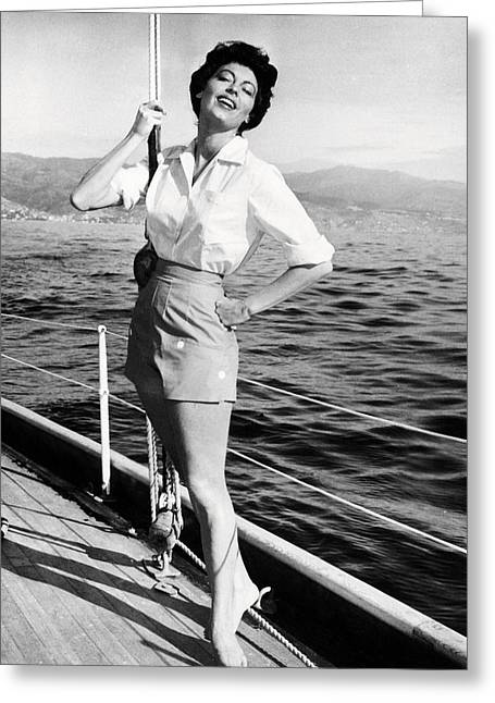 Gardner Greeting Cards - Ava Gardner in The Barefoot Contessa  Greeting Card by Silver Screen