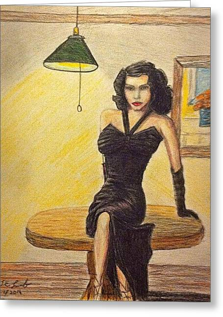 Frank Sinatra Posters Greeting Cards - Ava Greeting Card by Larry Lamb