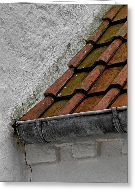 """roof Tile"" Greeting Cards - Avalanche Greeting Card by Odd Jeppesen"