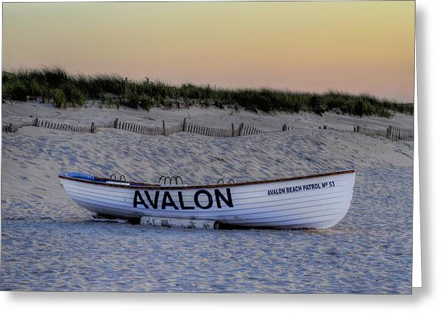 Sanddunes Greeting Cards - Avalon Lifeboat Greeting Card by Bill Cannon
