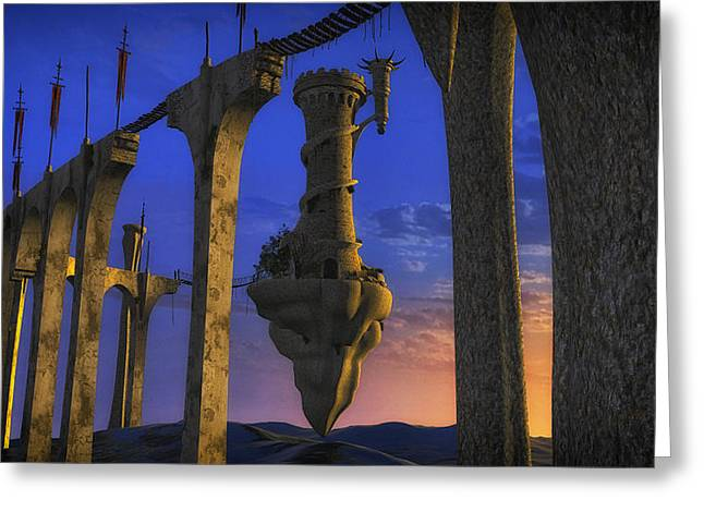Legends Field Digital Art Greeting Cards - Avalon Rising Greeting Card by Todd and candice Dailey