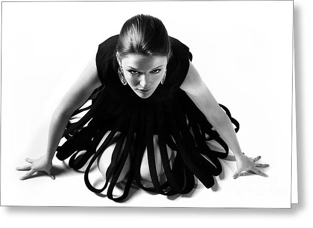 Fashion Model Photography Greeting Cards - Avant Garde Fashion Greeting Card by Diane Diederich