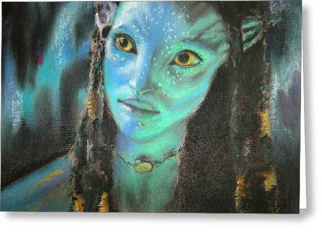 Characters Pastels Greeting Cards - Avatar Greeting Card by Lori Ippolito