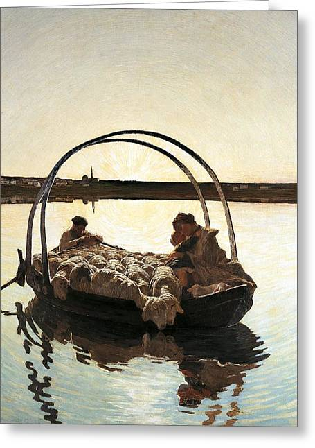 Ave-maria Greeting Cards - Ave Maria Greeting Card by Giovanni Segantini