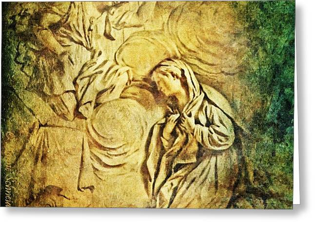 Ave Maria...Gratia Plena Greeting Card by Lianne Schneider