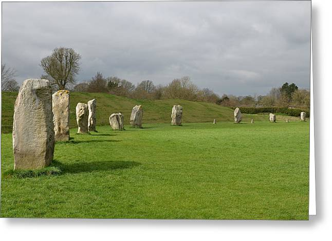 Ley Lines Greeting Cards - Avebury Greeting Card by Evan Butterfield