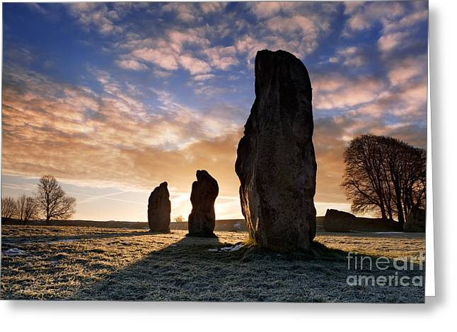 Historic England Greeting Cards - Avebury Stone Circle 1 Greeting Card by Rod McLean