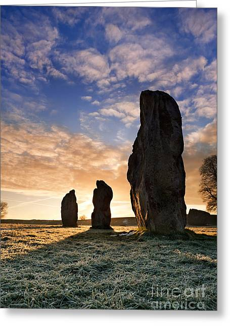 Stone Circle Greeting Cards - Avebury Stone Circle 2 Greeting Card by Rod McLean