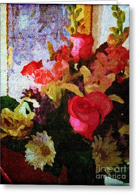 Lianne_schneider Greeting Cards - Avec Tout Mon Coeur Greeting Card by Lianne Schneider