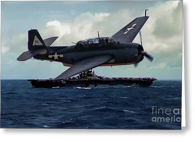 Tbf Greeting Cards - Avenger and the Lady Greeting Card by Tommy Anderson
