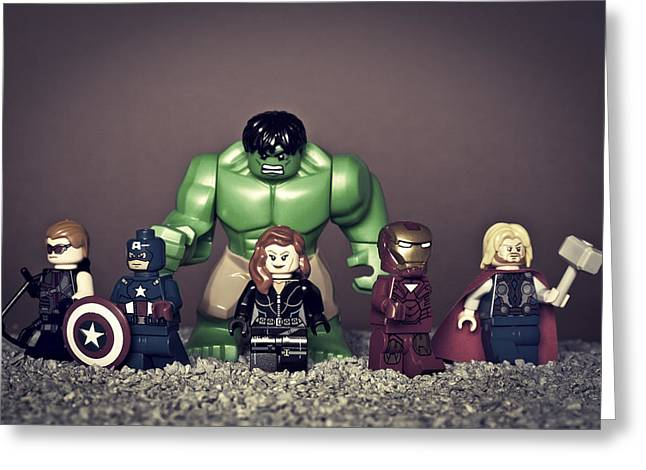 Black Widow Photographs Greeting Cards - Avengers Assemble  Greeting Card by Samuel Whitton