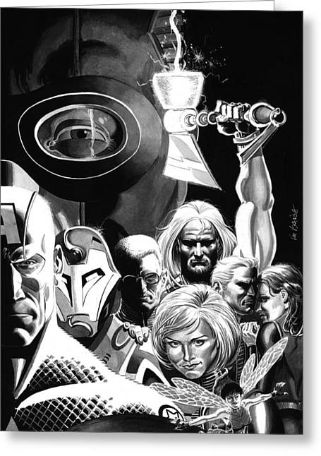 Thor Paintings Greeting Cards - Avengers Ultimates Greeting Card by Ken Branch