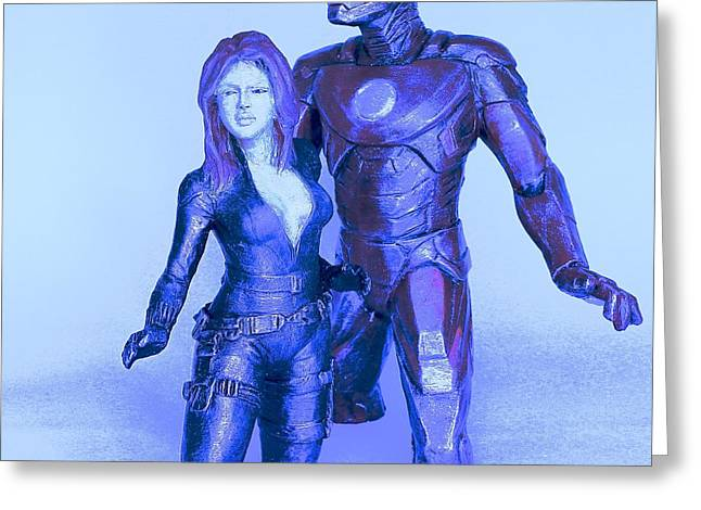 Great Sculptures Greeting Cards - Avengers Greeting Card by Wayne Headley