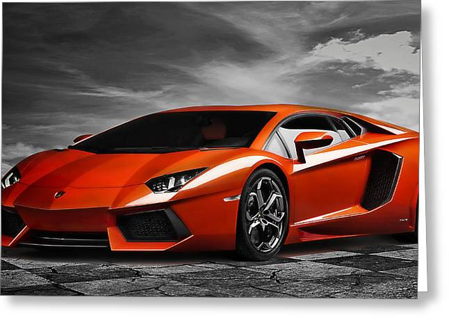 Engine Greeting Cards - Aventador Greeting Card by Peter Chilelli