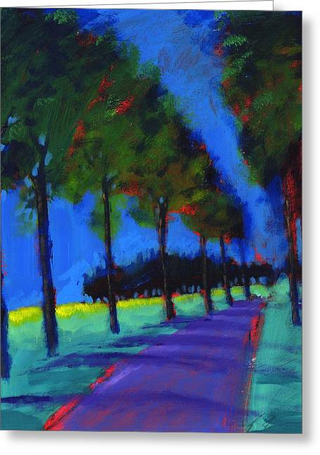 Avenue Greeting Card by Paul Powis