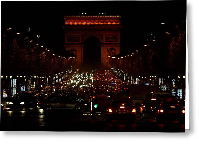 Champs Greeting Cards - Avenue des Champs-Elysees Greeting Card by John Galbo