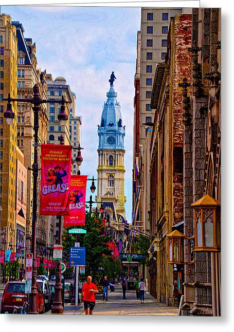 Cityhall Greeting Cards - Avenue of the Arts - Broad Street Greeting Card by Bill Cannon